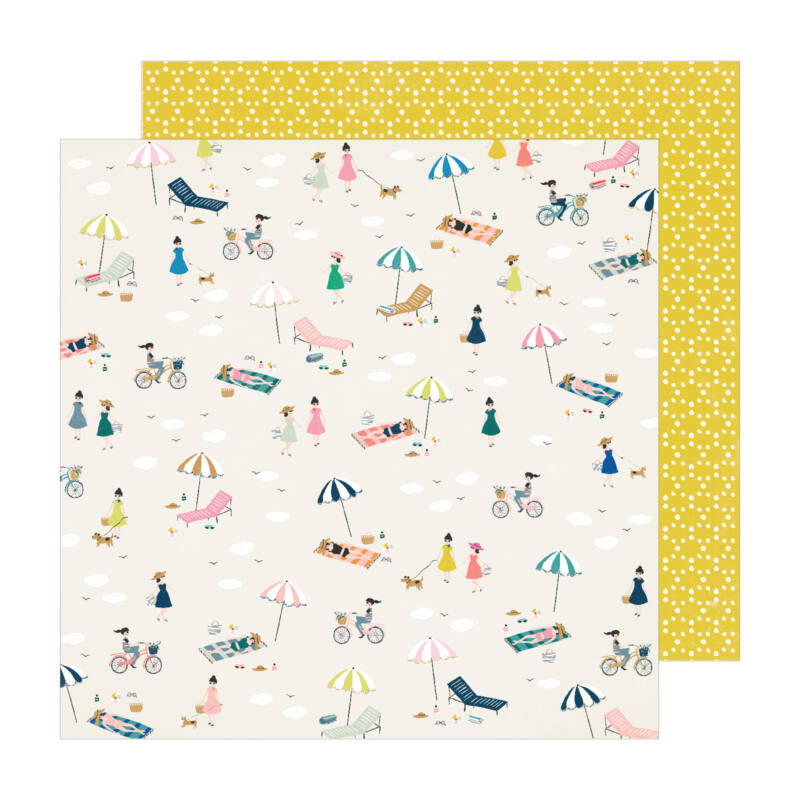 Crate Paper - Maggie Holmes - Sunny Days 12x12 Patterned Paper -  Seaside