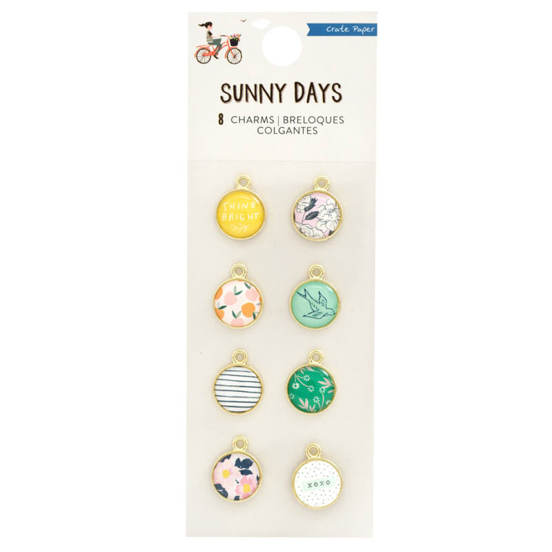 Crate Paper - Maggie Holmes - Sunny Days Charms (8 Piece)