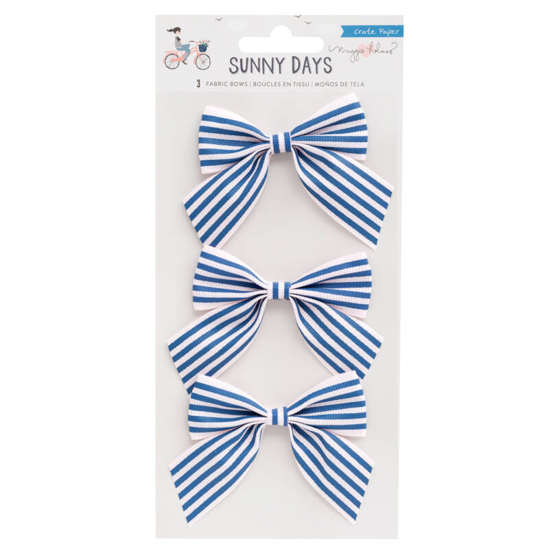 Crate Paper - Maggie Holmes - Sunny Days Fabric Bows (3 Piece)