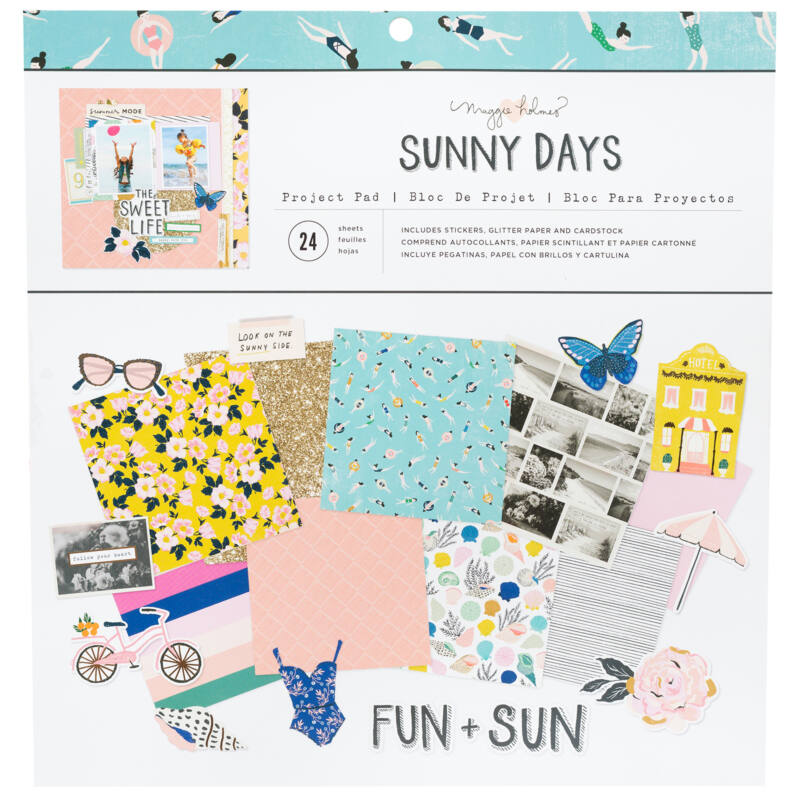 Crate Paper - Maggie Holmes - Sunny Days 12x12 Project Pads (24 sheets)