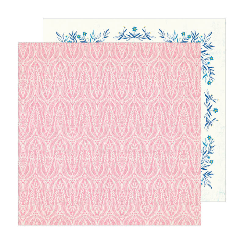 Crate Paper - Maggie Holmes - Sunny Days 12x12 Patterned Paper -  Coral