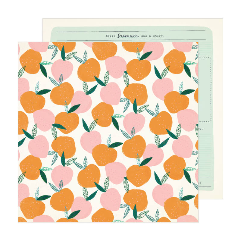 Crate Paper - Maggie Holmes - Sunny Days 12x12 scrapbook papír -  Peachy
