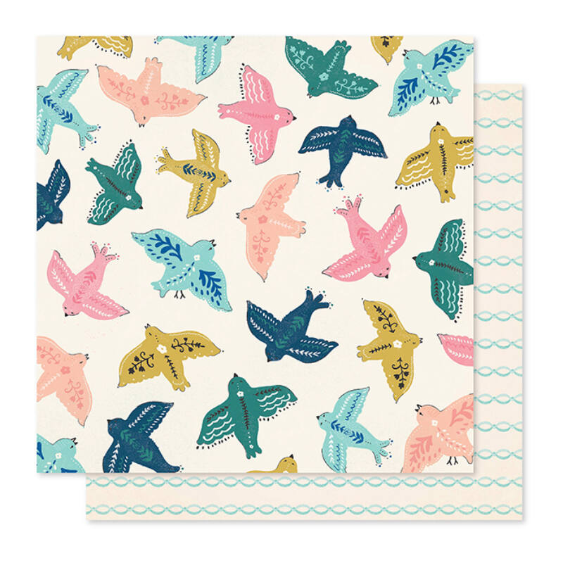 Crate Paper - Maggie Holmes - Willow Lane 12x12 Paper - Sparrow