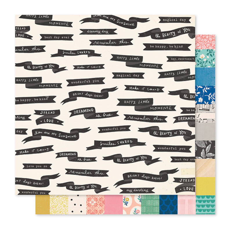 Crate Paper - Maggie Holmes - Willow Lane 12x12 Paper - Spread Love