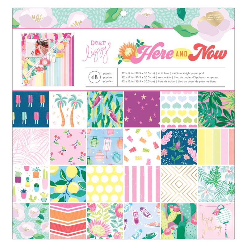 Dear Lizzy - Here and Now 12x12 Paper Pad (48 Sheets)