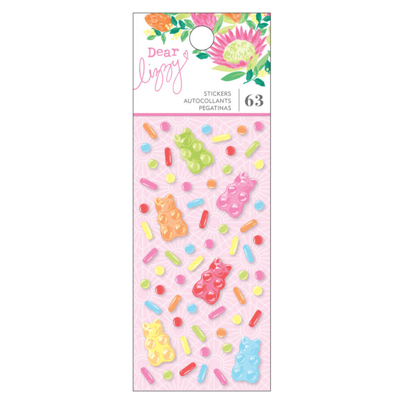 Dear Lizzy - Here and Now Epoxy Stickers (63 Piece)