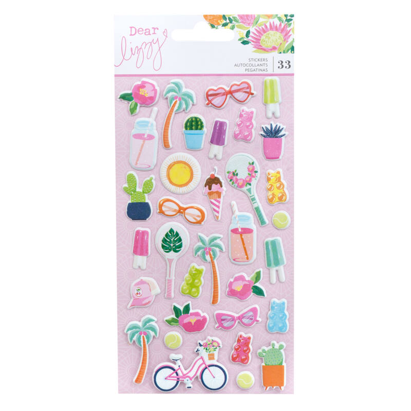 Dear Lizzy - Here and Now Puffy Stickers (33 Piece)