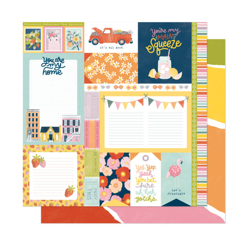 Dear Lizzy - It's All Good 12x12 Patterned Paper - Main Squeeze