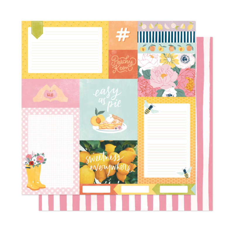 Dear Lizzy - It's All Good 12x12 Patterned Paper - Easy as Pie
