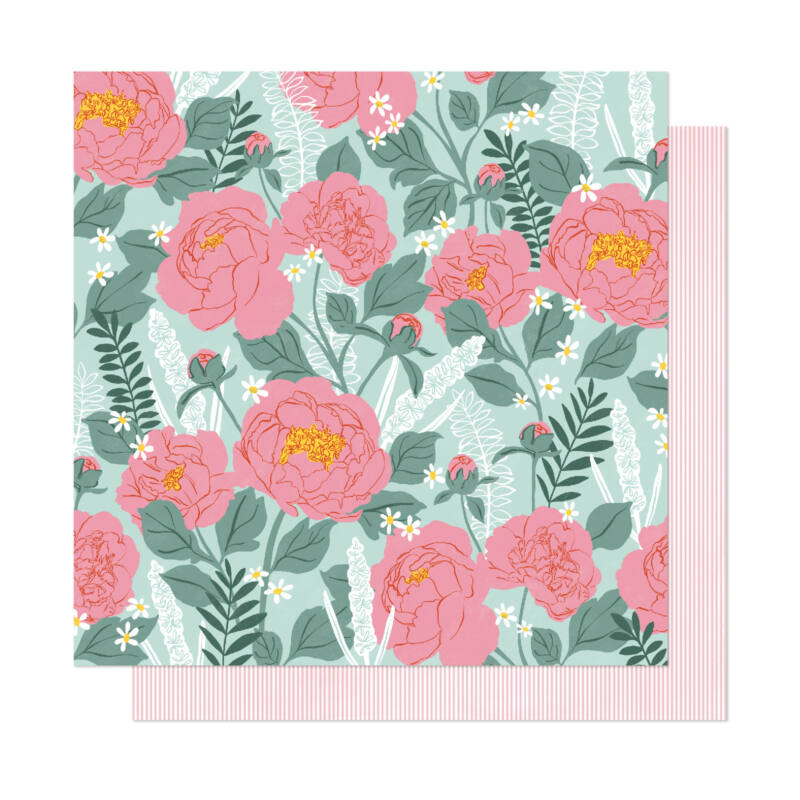 Dear Lizzy - It's All Good 12x12 Patterned Paper - Bloomed