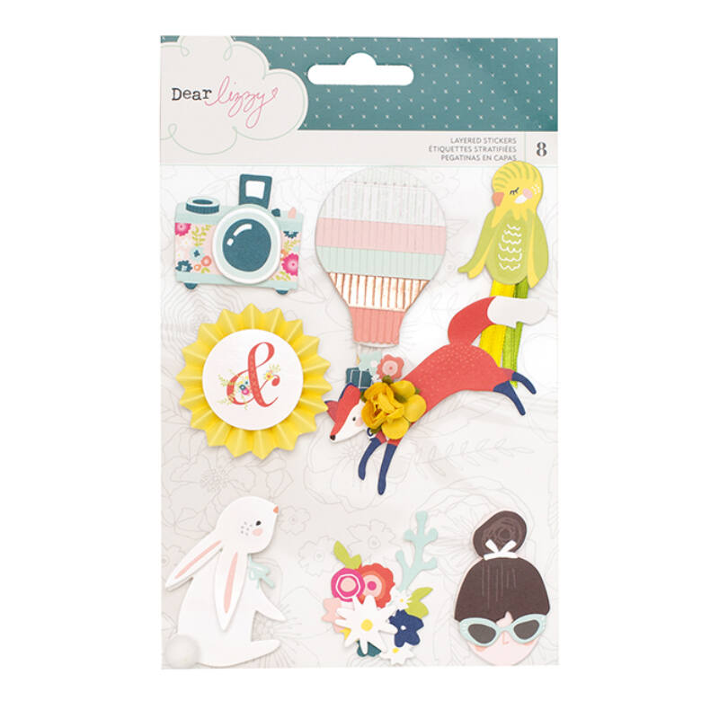 Dear Lizzy Lovely Day Layered Stickers