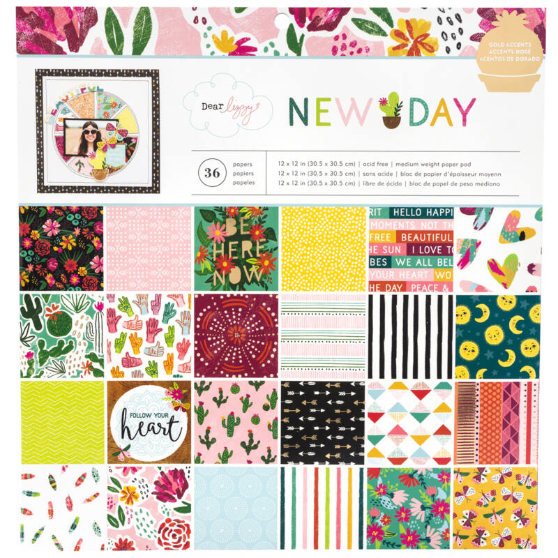 Dear Lizzy - New Day 12x12 Paper Pad 36 Sheets