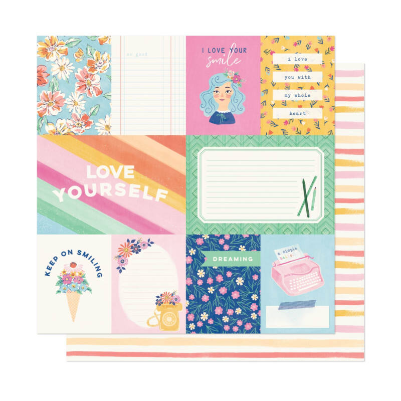 Dear Lizzy - She's Magic 12x12 Patterned Paper - A Simple Hello