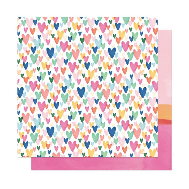 Dear Lizzy - She's Magic 12x12 Patterned Paper - Kind Heart