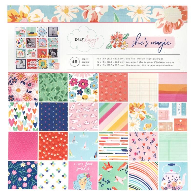 Dear Lizzy - She's Magic 12x12 Paper Pad (48 Sheets)