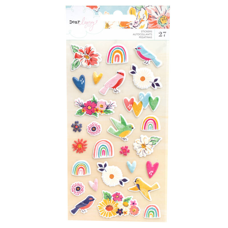 Dear Lizzy - She's Magic Puffy Stickers - Matte (27 Piece)