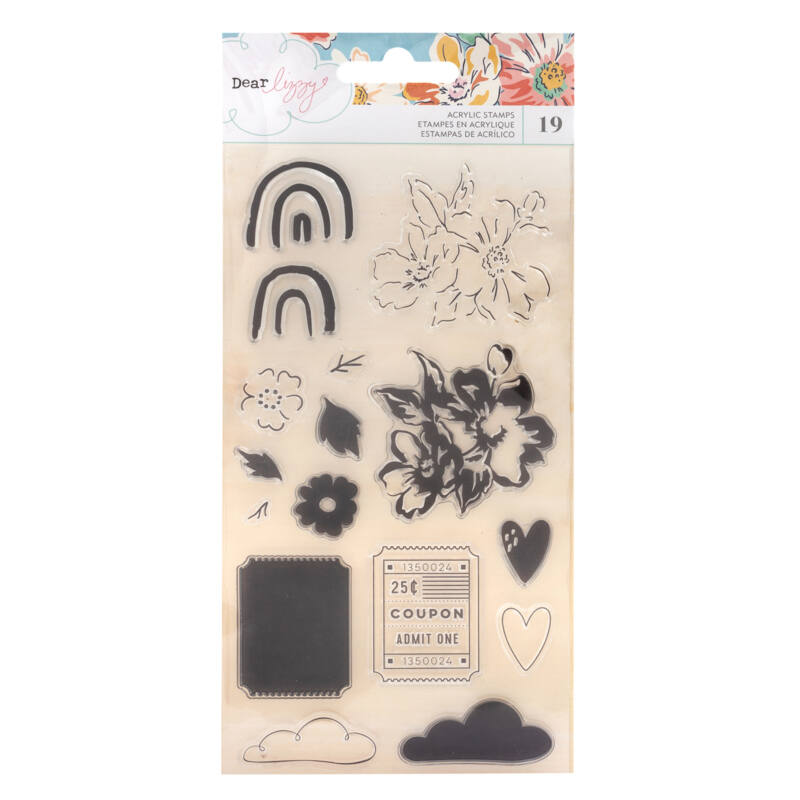 Dear Lizzy - She's Magic Acrylic Stamp Set (19 Piece)