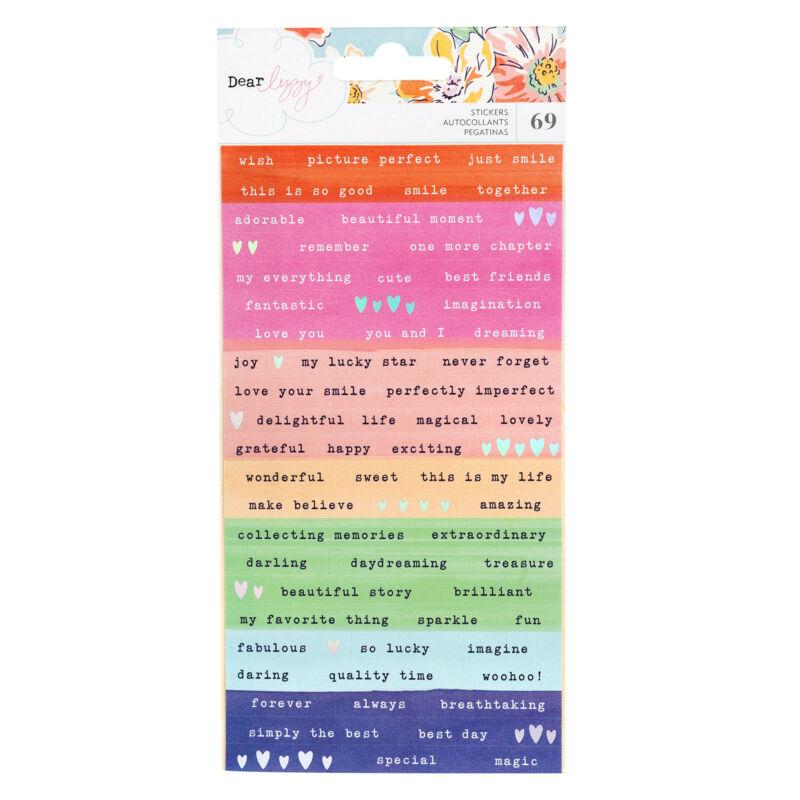 Dear Lizzy - She's Magic Confetti Stickers (69 Piece)