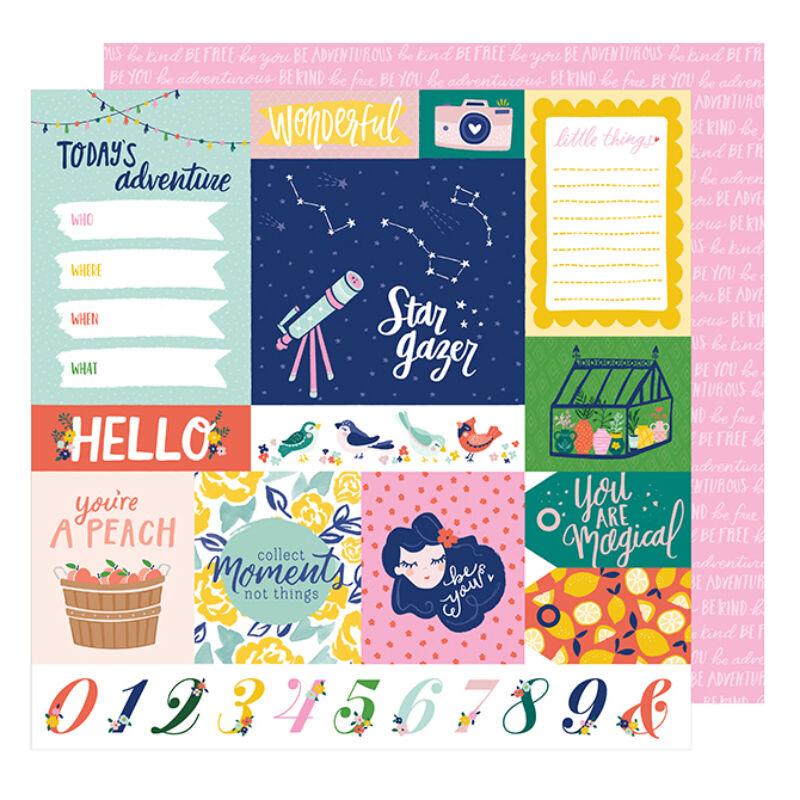 Dear Lizzy - Star Gazer 12x12 scrapbook papír - Adventure