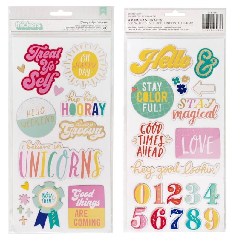 Dear Lizzy - Stay Colorful Phrase Thickers