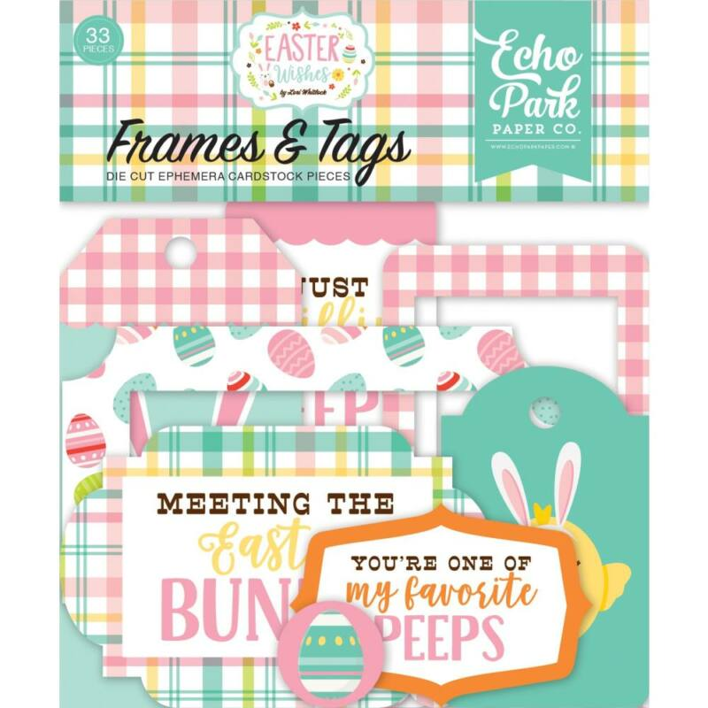 Echo Park - Easter Wishes Ephemera Die-Cuts (33 Pieces)