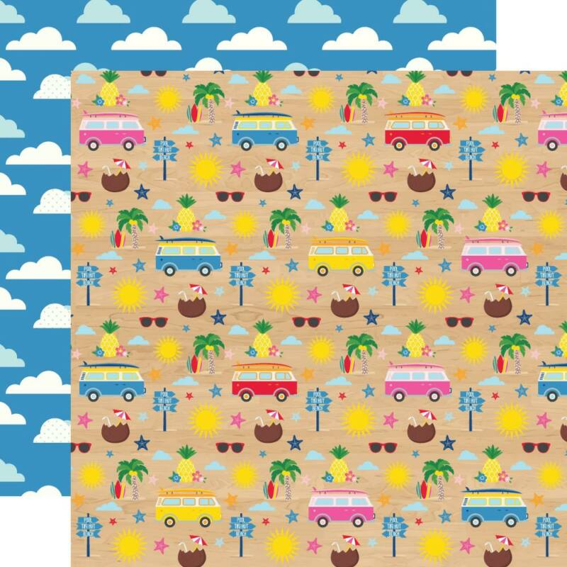 Echo Park - I Love Summer 12x12 Paper - Beach Day
