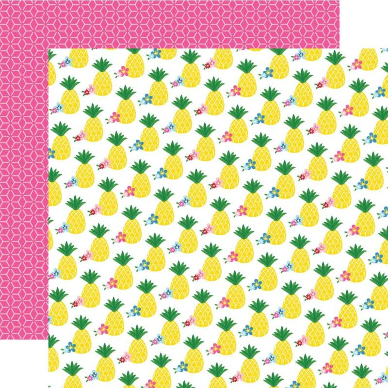 Echo Park - I Love Summer 12x12 Paper - Pineapple Paradise