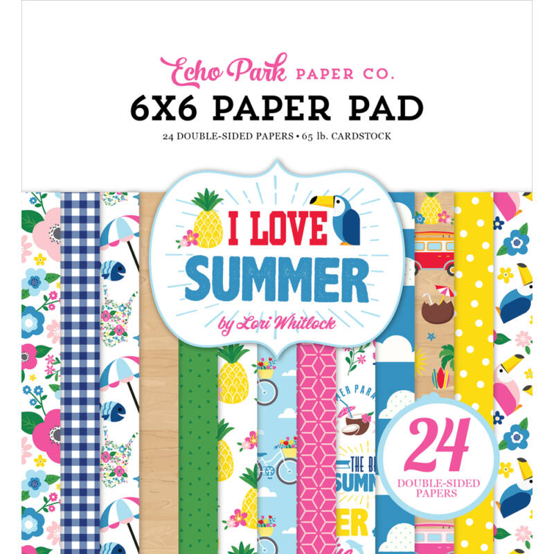 Echo Park - I Love Summer 6x6 Double-Sided Paper Pad (24 sheet)