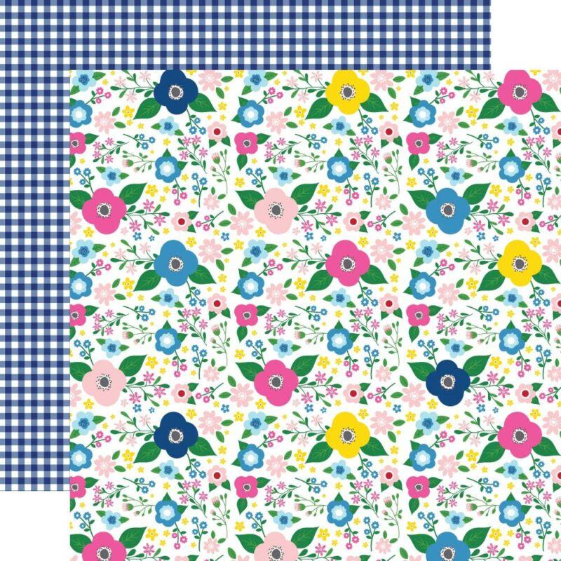 Echo Park - I Love Summer 12x12 Paper - Summer Floral