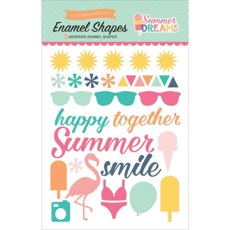 Echo Park - Summer Dreams Enamel Shapes