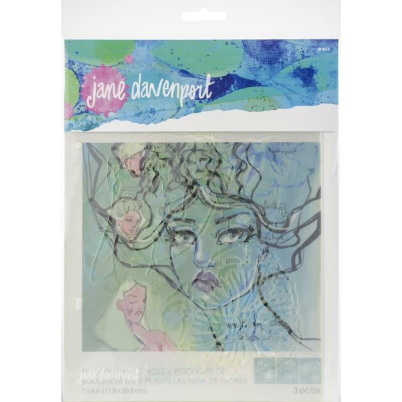 Spellbinders - Jane Davenport Artomology Stencils - Flower Girl