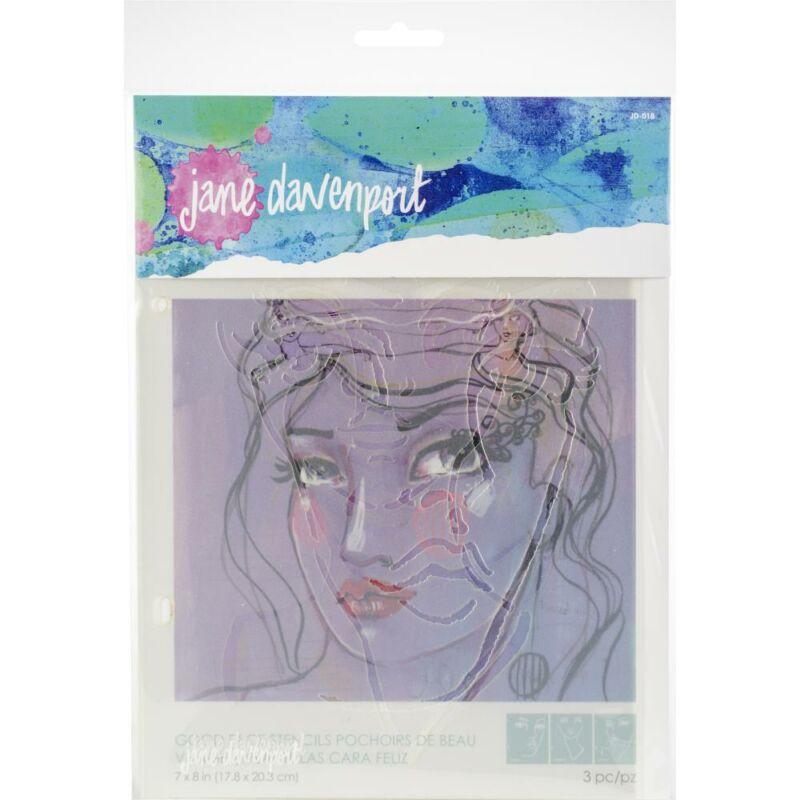 Spellbinders - Jane Davenport Artomology Stencils - Good Face