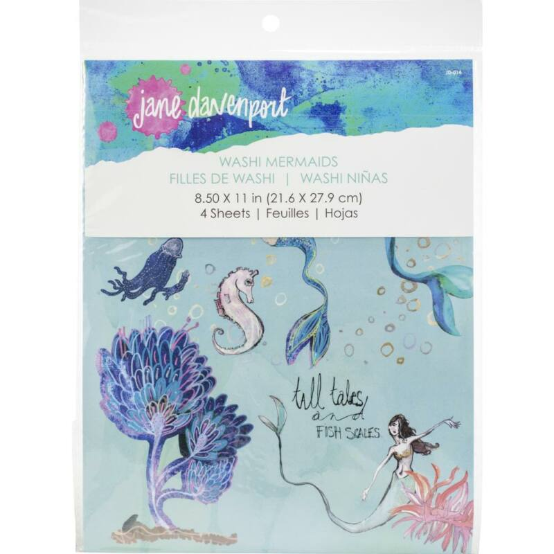 Spellbinders - Jane Davenport Artomology Washi Sheets - Mermaids