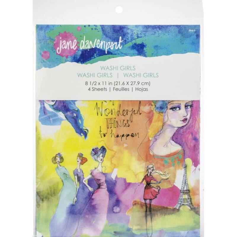 Spellbinders - Jane Davenport Artomology Washi Sheets - Girls