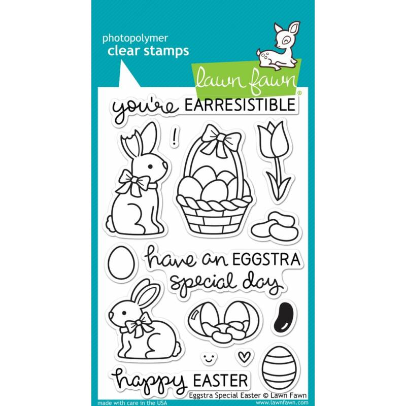 Lawn Fawn 4x6 Clear Stamp - Eggstra Special Easter