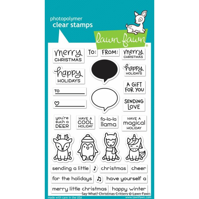 Lawn Fawn 4x6 Clear Stamp - Say What? Christmas Critters