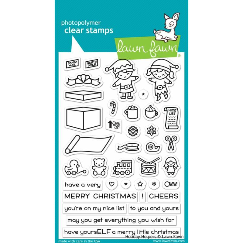Lawn Fawn 4x6 Clear Stamp - Holiday Helpers