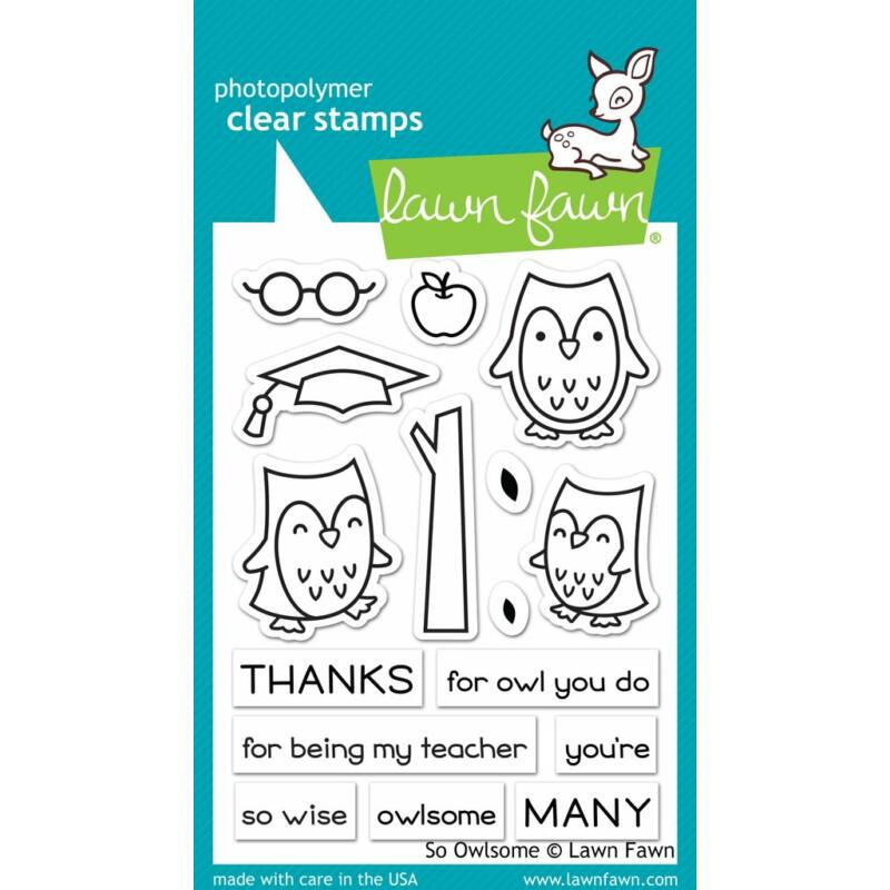 Lawn Fawn 3x4 Clear Stamp - So Owlsome