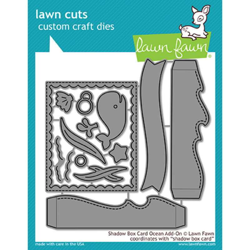 Lawn Fawn Die Set - Shadow Box Card Ocean Add-On
