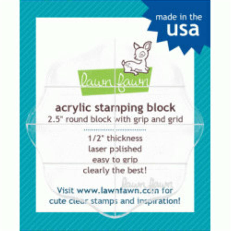 "Lawn Fawn Acrylic Stamping Block 2.5"" Round"