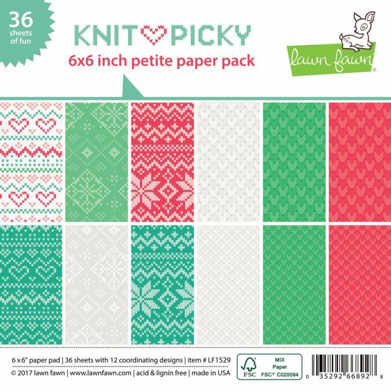 Lawn Fawn Knit Picky 6x6 Paper Pad