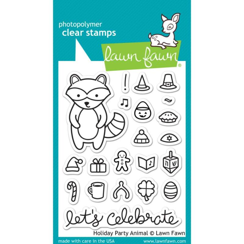Lawn Fawn Clear Stamp - Holiday Party Animal