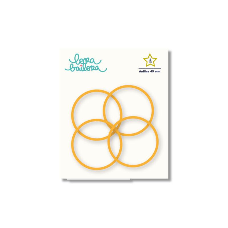 Lora Bailora - Book Ring 45 mm - Orange (4 Pieces)