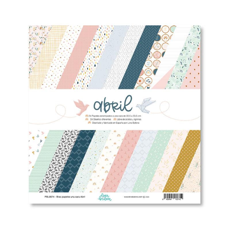 Lora Bailora - Abril 12x12 Paper Pad (24 sheet)