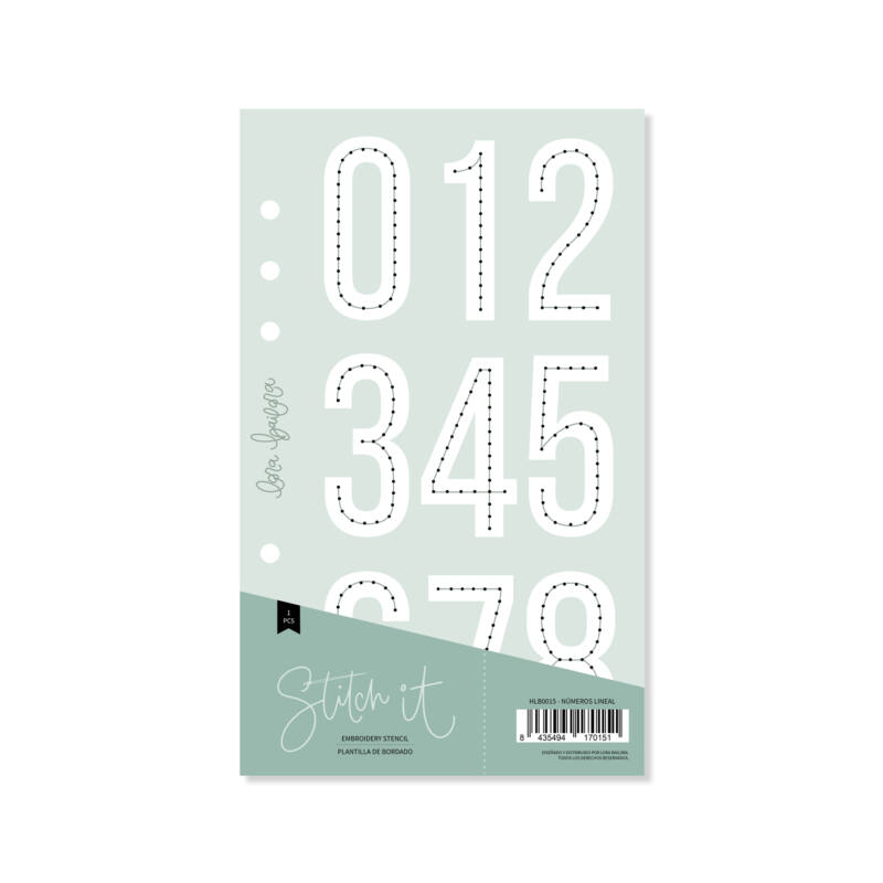 Lora Bailora - Stitch it! Numbers Linear Stencil