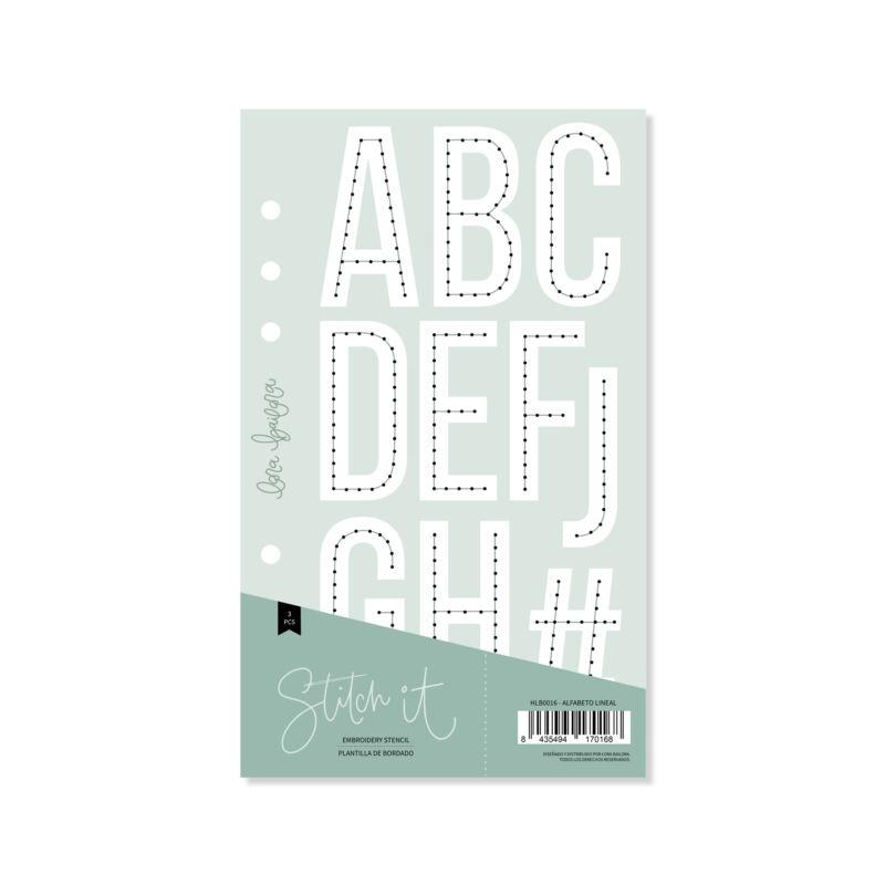Lora Bailora - Stitch it! Alpha Linear Stencil