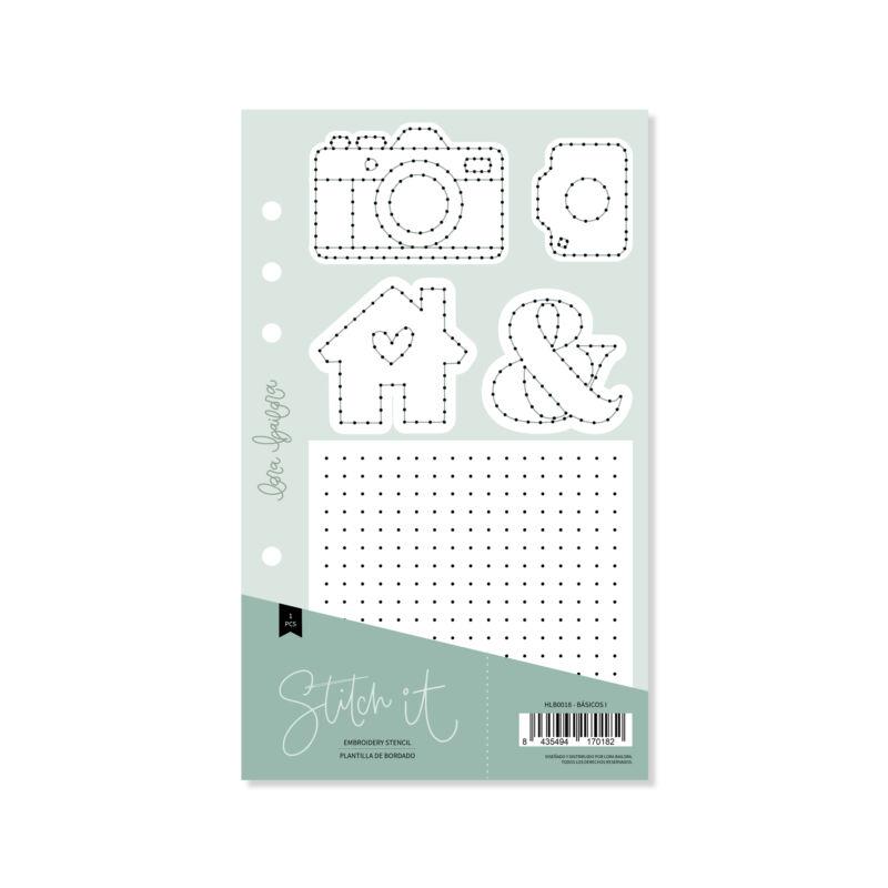 Lora Bailora - Stitch it! Basics Stencil