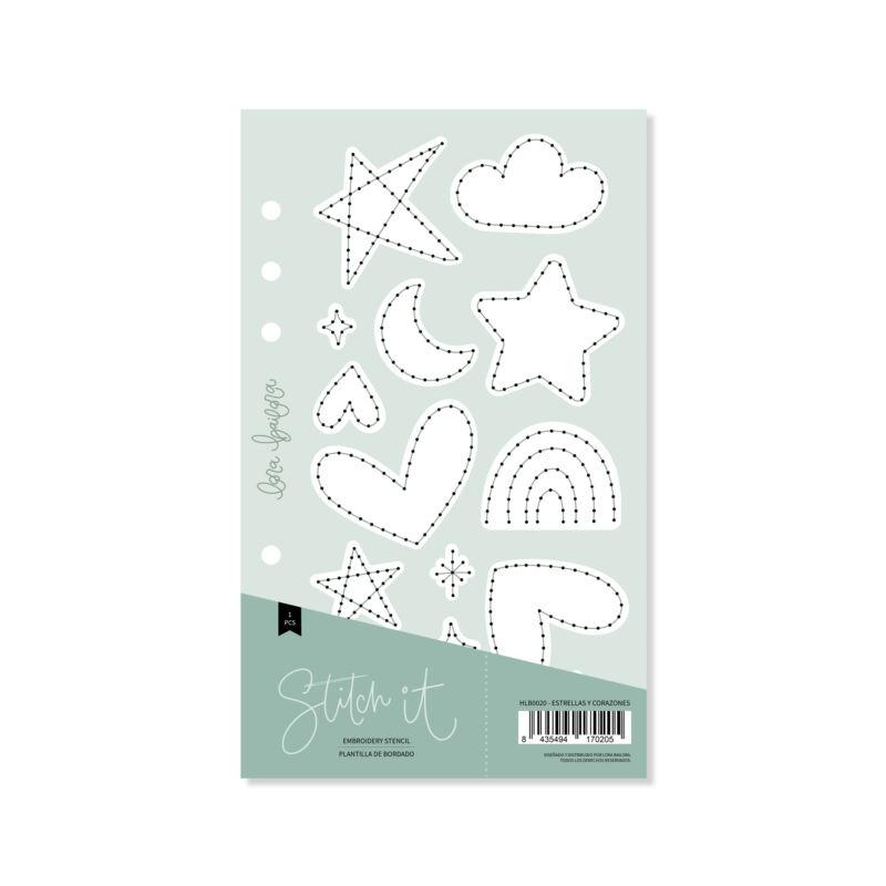 Lora Bailora - Stitch it! Stars and Heart Stencil