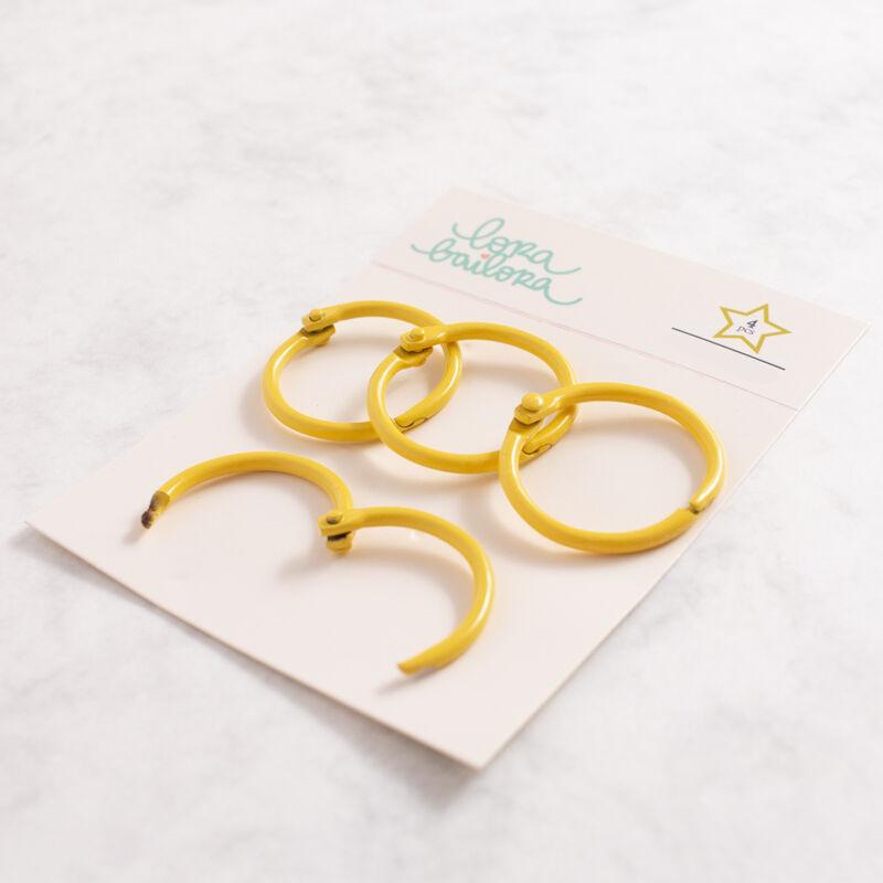 Lora Bailora - Book Ring 30 mm - Yellow (4 Pieces)
