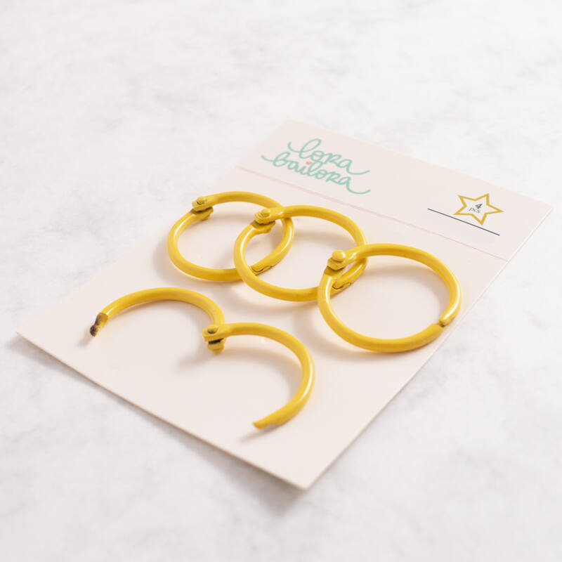Lora Bailora - Book Ring 30 mm - Yellow (4 Pieces)